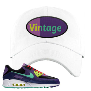 Air Max 90 Cheetah Dad Hat | Vintage Oval, White
