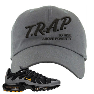 Nike Air Max Plus Batman Dad Hat | Trap To Rise Above Poverty, Dark Gray