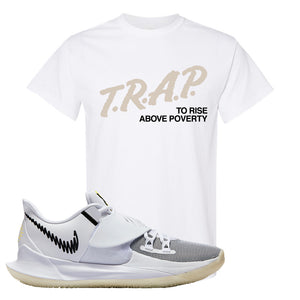 Kyrie Low 3 T Shirt | White, Trap To Rise Above Poverty