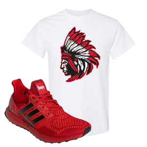 Ultra Boost 1.0 Nebraska T-Shirt | Indian Chief, White