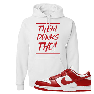 SB Dunk Low St. Johns Hoodie | Them Dunks Tho, White