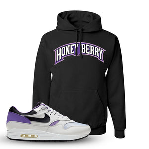 Air Max 1 DNA Series Sneaker Black Pullover Hoodie | Winter Mask to match Nike Air Max 1 DNA Series Shoes | Honey Berry Arch