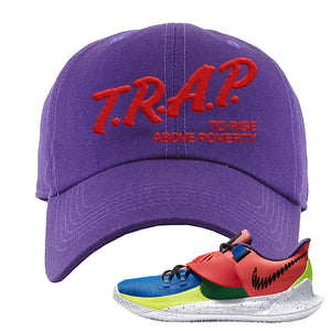 Kyrie Low 3 NY vs NY Dad Hat | Trap To Rise Above Poverty, Purple