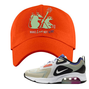 Air Max 200 WMNS Fossil Sneaker Orange Dad Hat | Hat to match Nike Air Max 200 WMNS Fossil Shoes | Army Rats