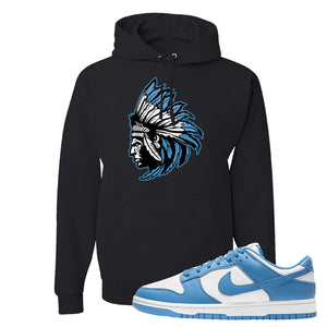 SB Dunk Low University Blue Hoodie | Indian Chief, Black