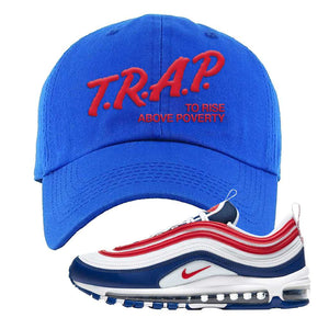 Air Max 97 USA Dad Hat | Royal Blue, Trap To Rise Above Poverty