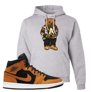Air Jordan 1 Mid Wheat Hoodie | Sweater Bear, Ash