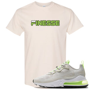 Air Max 270 React Ghost Green Sneaker Natural T Shirt | Tees to match Nike Air Max 270 React Ghost Green Shoes | Finesse
