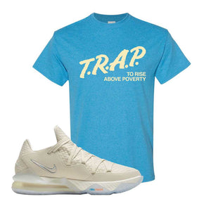 Lebron 17 Low Bone T Shirt | Heather Sapphire, Trap To Rise Above Poverty