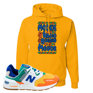 997S Multicolor Sneaker Gold Pullover Hoodie | Hoodie to match New Balance 997S Multicolor Shoes | Mookie and Gang