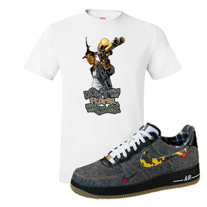Air Force 1 Low Plaid And Camo Remix Pack T-Shirt | Dont Hate The Playa, White