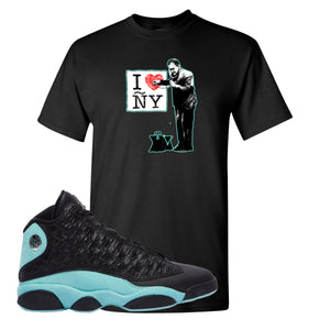 I Heart ÑY Doctor Black T-Shirt To Match Jordan 13 Island Green Sneakers