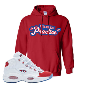 Question Mid OG Suede Toe Hoodie | Talkin Bout Practice, Red