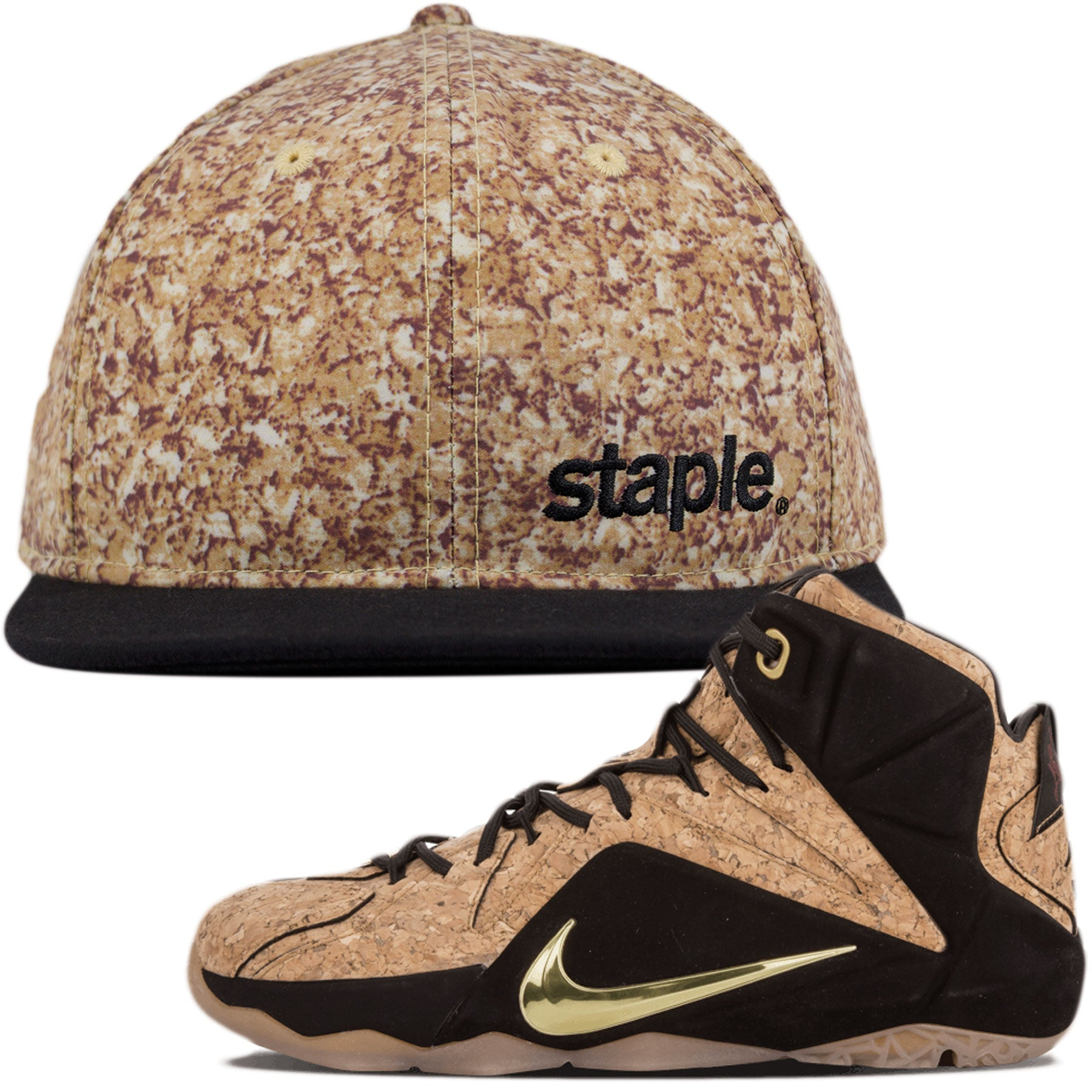 low priced 6eee9 9f112 Lebron 12 Ext Cork Sneaker Matching Snapback Hat