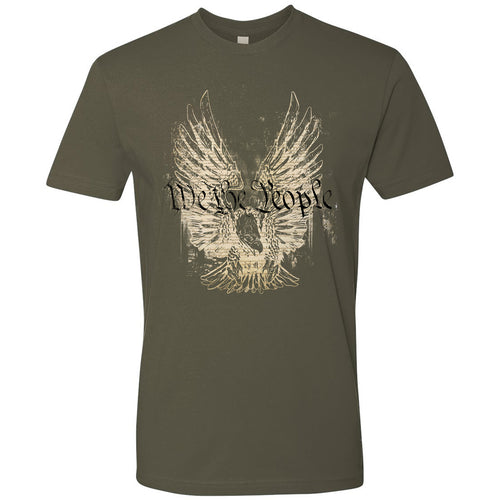 Standard Issue We The People Bald Eagle Military Green Grunt Life T-Shirt