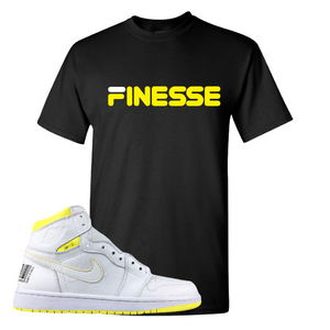 Jordan 1 First Class Flight Finesse Sneaker Matching Black T-Shirt