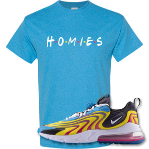 Homies Heather Sapphire T-Shirt to match Air Max 270 React ENG Laser Blue Sneakers