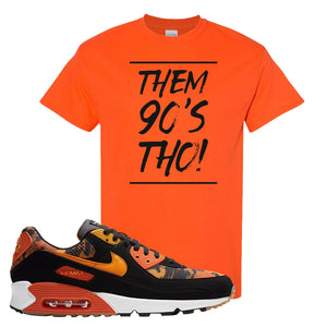 Air Max 90 Orange Camo T Shirt | Them 90's Tho, Orange
