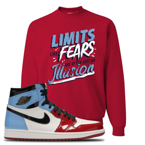 Air Jordan 1 Fearless Limits Red Made to Match Crewneck Sweatshirt