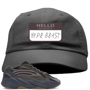 Yeezy Boost 700 Geode Sneaker Hook Up Hello My Name Is Hype Beast Woe Gray Dad Hat