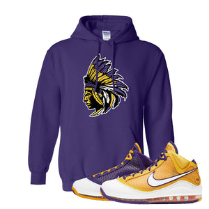 Lebron 7 'Media Day' Hoodie | Purple, Indian Chief