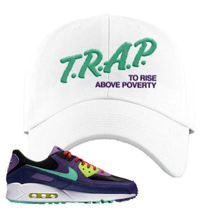 Air Max 90 Cheetah Dad Hat | Trap To Rise Above Poverty, White