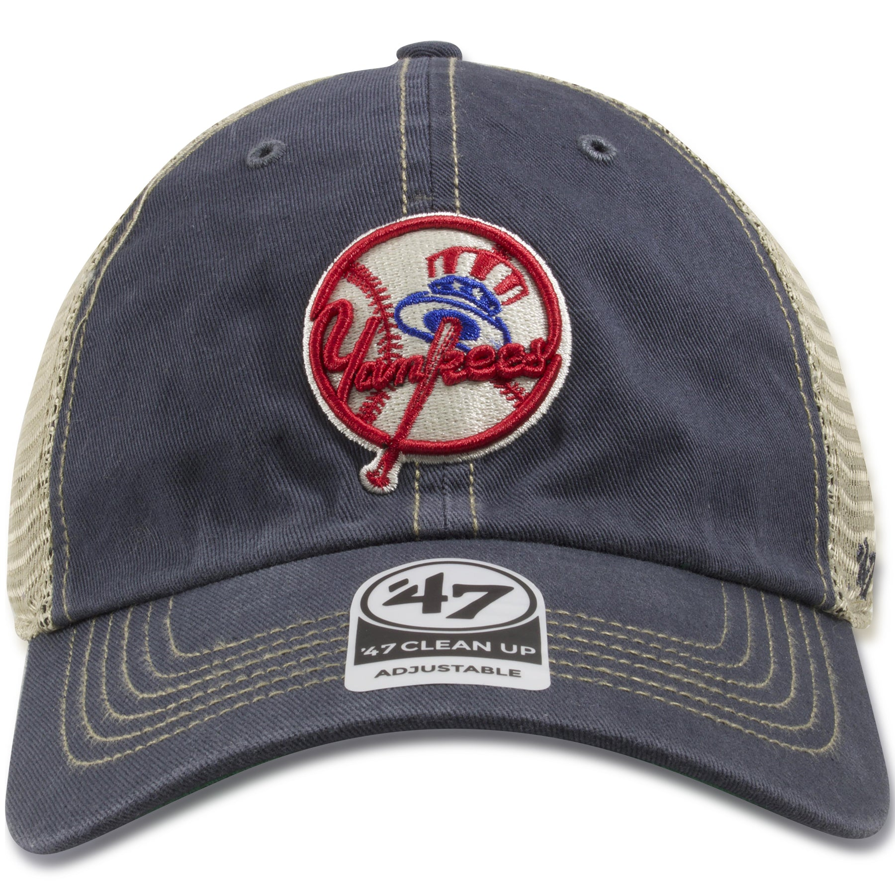 8536249244626 New York Yankees Vintage Washed Navy Blue   Khaki Trucker Hat – Cap Swag
