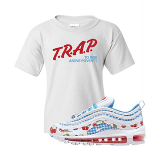 Air Max 97 GS SE Cherry Kids T-Shirt | Trap to Rise Above Poverty, White
