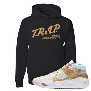 KD 13 EYBL Hoodie | Trap To Rise Above Poverty, Black