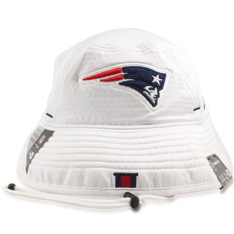 New England Patriots 2019 Training Camp White Training Bucket Hat