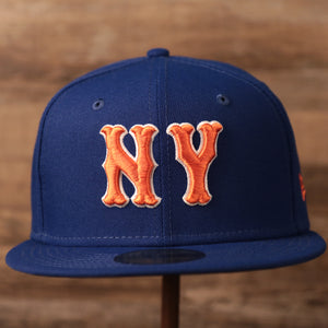 The New York Mets blue brim fitted 59fifty by New Era.
