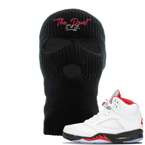 Air Jordan 5 OG Fire Red Ski Mask | Black, Devil Is A Lie