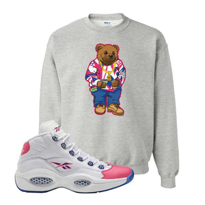 Question Mid Pink Toe Sweatshirt | Sweater Bear, Ash