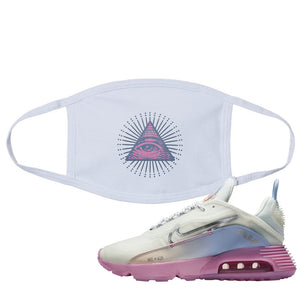 Air Max 2090 Airplane Travel Face Mask | All Seeing Eye, White