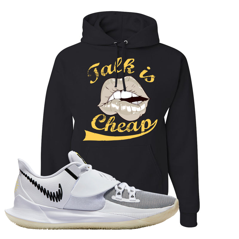 Kyrie Low 3 Hoodie | Black, Talk is Cheap