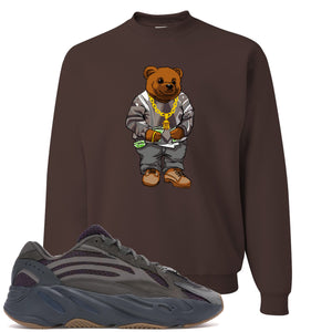 Yeezy Boost 700 Geode Sneaker Hook Up Polo Sweater Bear Brown Crewneck Sweater