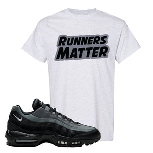 Air Max 95 Black Smoke Grey T Shirt | Runners Matter, Ash