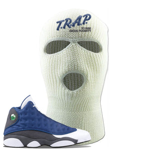 Jordan 13 Flint 2020 Sneaker White Ski Mask | Winter Mask to match Nike Air Jordan 13 Flint 2020 Shoes | Trap To Rise