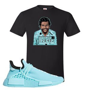 Pharell x NMD Hu Aqua T Shirt | Escobar Illustration, Black