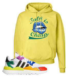 Nite Jogger 'Pride' Hoodie | Yellow, Talk is Cheap