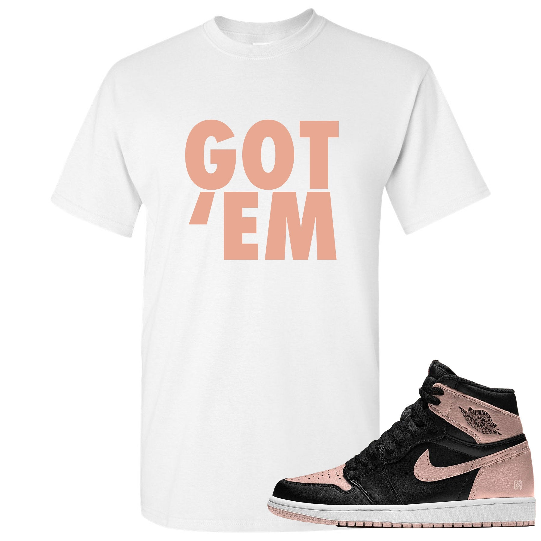 4f1166d53d2 White and crimson t-shirt to match Crimson Tint Jordan 1 shoes ...