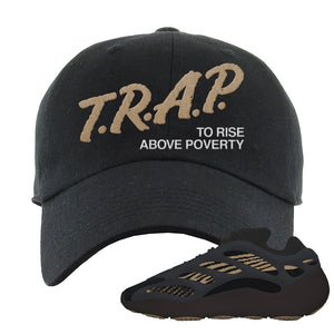 Yeezy 700 v3 Eremial Dad Hat | Trap To Rise Above Poverty, Black