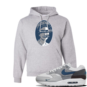 Air Max 1 'London City Pack' Sneaker Ash Pullover Hoodie | Hoodie to match Nike Air Max 1 'London City Pack' Shoes | God Save The Queen