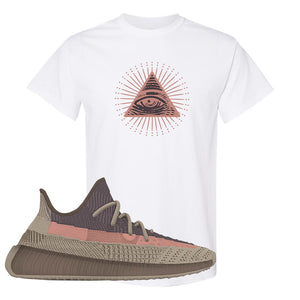 Yeezy 350 v2 Ash Stone T Shirt | All Seeing Eye, White