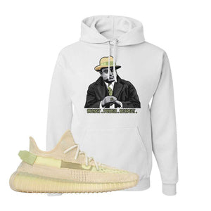 Yeezy Boost 350 V2 Flax Hoodie | White, Capone Illustration