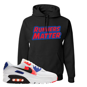 Air Max 90 Paint Streaks Hoodie | Runners Matter, Black