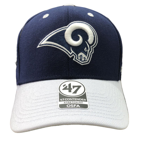 91f169f7fce3b Embroidered on the front of the Los Angeles Rams stretch fit cap is the Los  Angeles