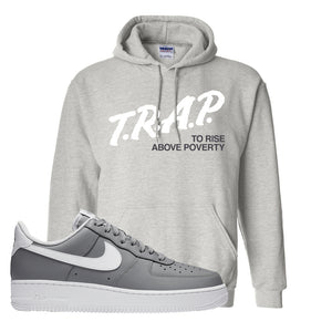 Air Force 1 Low Wolf Grey White Hoodie | Ash, Trap To Rise Above Poverty