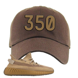 Yeezy Boost 350 V2 Earth Sneaker Dad Hat To Match | 350, Brown