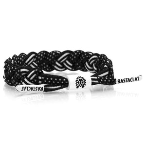 Rastaclat Black and White USA Flag Pattern Braided Shoelace Bracelet